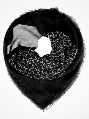 Calvin Klein DEGRADE  Scarf black olive