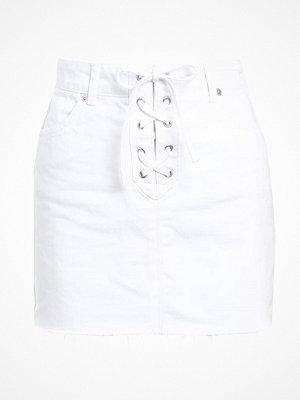 Kjolar - Topshop Jeanskjol white