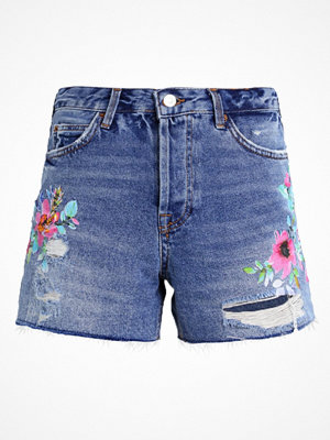 Topshop SUM PAINT ASHLEY Jeansshorts middenim