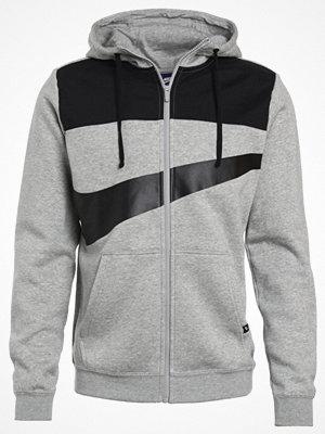 Street & luvtröjor - Nike Sportswear Sweatshirt dark grey heather/black/matte silver/black