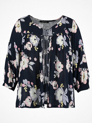 Evans FLORAL COVER UP Tunn jacka dark blue