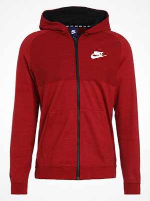 Street & luvtröjor - Nike Sportswear Sweatshirt tough red/heather/black/white