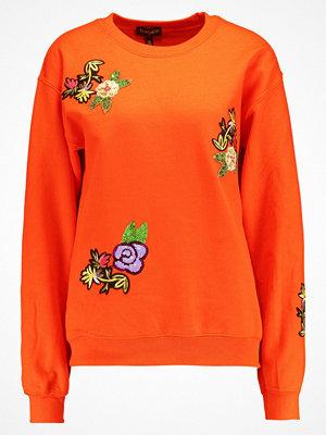 Topshop FLORAL APPLIQUE  Sweatshirt orange