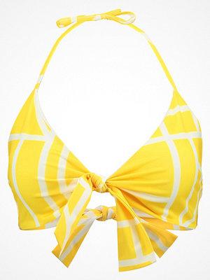 Lavish Alice ABSTRACT PRINT TIE FRONT  Bikiniöverdel yellow