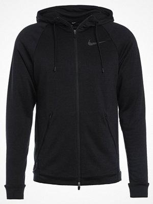 Street & luvtröjor - Nike Performance DRY HYPER  Sweatshirt noir/gris