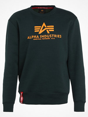 Tröjor & cardigans - Alpha Industries BASIC SWEATER Sweatshirt dark petrol