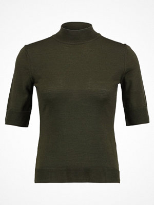 IVY & OAK ROLLNECK HALFARM JUMPER Tshirt bas forest green