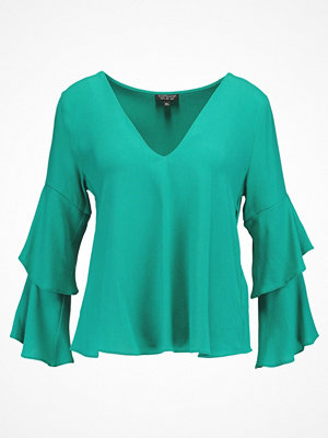 Topshop DOUBLE SLEEVE Blus green