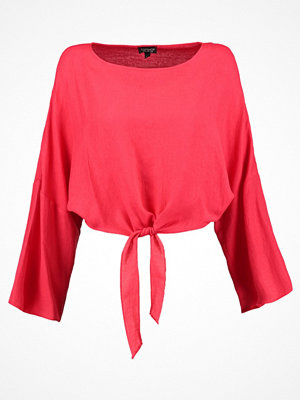 Topshop KNOT FRONT Blus red