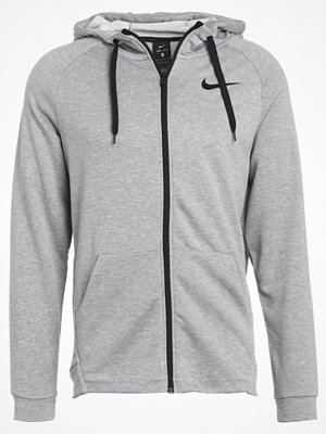 Nike Performance DRY FULL ZIP HOODIE Sweatshirt dark grey heather/black