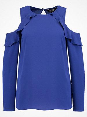 Dorothy Perkins RUFFLE COLD SHOULDER Blus blue