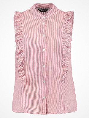 Dorothy Perkins STRIPE FRILL Skjorta red