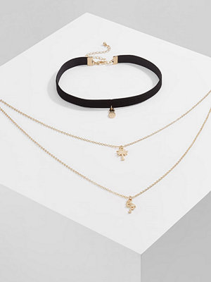 Only ONLLAVA TROPIC 2 PACK  Halsband goldcoloured
