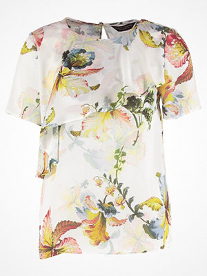Dorothy Perkins FLORAL RUFFLE  Blus ivory