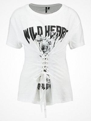 Vero Moda VMCORSAGE Tshirt med tryck snow white