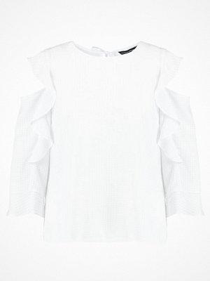 Dorothy Perkins FRILL COLD SHOULDER  Blus white