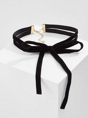 Only ONLPARIS DOUBLE LAYERED BOW Halsband black