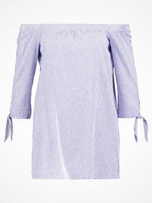 Dorothy Perkins LONGLINE STRIPE BARDOT Blus blue