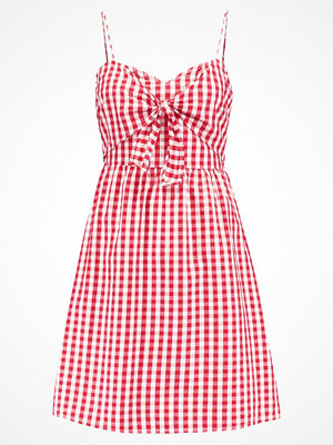 New Look Tall GINGHAM TIE FRONT  Sommarklänning red