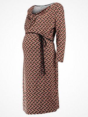 Anna Field MAMA Jerseyklänning black/beige/ orange