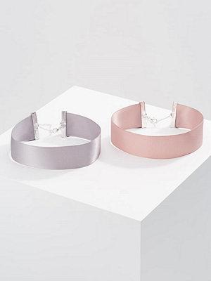 Topshop WIDE SATIN CHOKER 2 PACK Halsband pastel multi