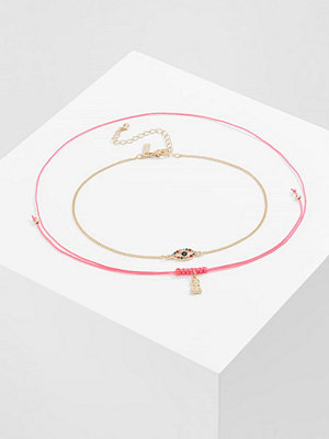 Topshop BUDDHA EYE 2 PACK Halsband pink neon