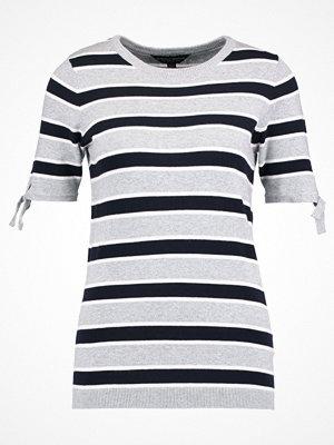 Dorothy Perkins STRIPE Tshirt med tryck light grey