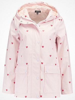 Topshop LOVE HEART MAISIE   Regnjacka pink