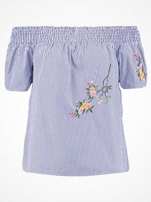 Dorothy Perkins TIE BACK STRIPE Blus blue/white