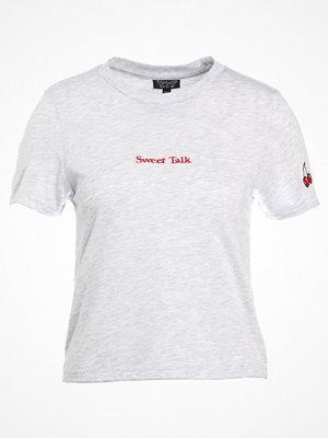 Topshop SWEET TALK Tshirt med tryck greymarl