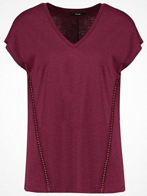 Opus SIGRID Tshirt med tryck red wine