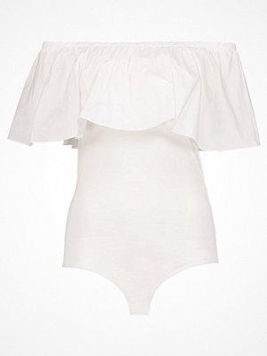 Vero Moda VMKATIE OFF SHOULDER Tshirt med tryck snow white