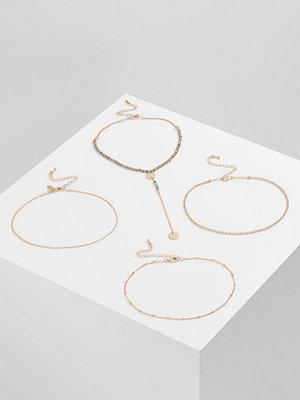 Topshop MIX BEAD 4 PACK Halsband goldcoloured