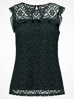 Dorothy Perkins LACE FRILL RIB SHELL Blus green