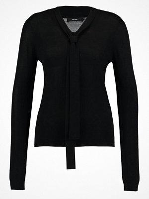 Vero Moda VMRUBI MEGHAN BOW NECK Stickad tröja black