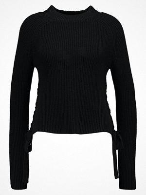 Even&Odd SIDE LACEUP HALF  Stickad tröja black