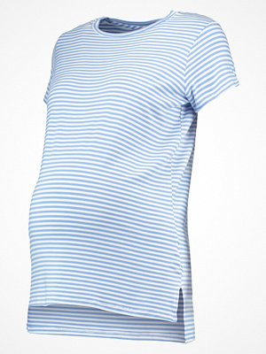 Topshop Maternity FINE STRIPE Tshirt med tryck blue