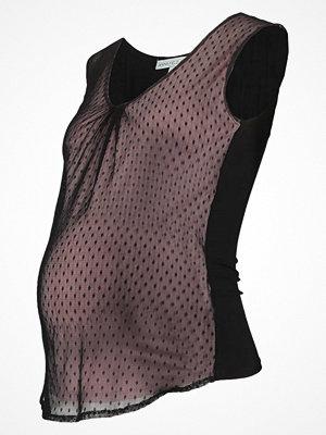 Anna Field MAMA Tshirt med tryck black/pale mauve