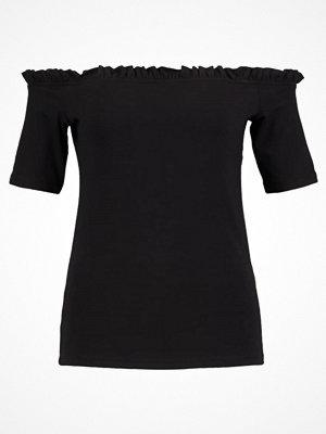Dorothy Perkins RUFFLE EDGE Tshirt med tryck black