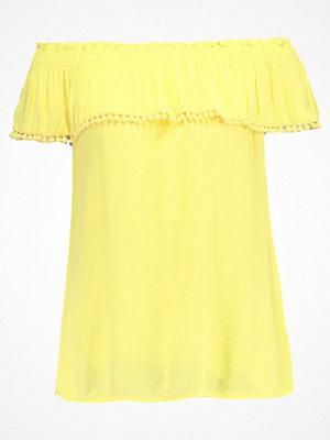 Dorothy Perkins POM POM TRIM BARDOT Blus yellow