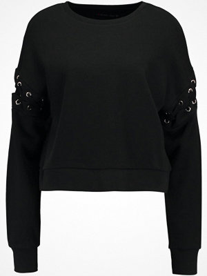 Even&Odd EYELET SLEEVE Sweatshirt black