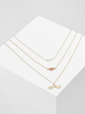Only MOLLY 3CHAIN Halsband goldcoloured