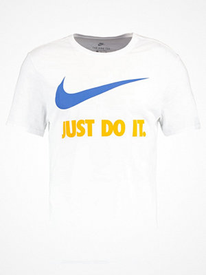 Nike Sportswear NEW JUST DO IT SWOOSH Tshirt med tryck white/blue jay