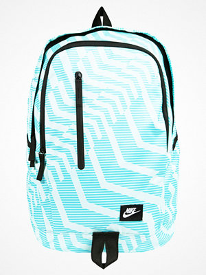 Nike Sportswear ALL ACCESS SOLEDAY  Ryggsäck light aqua/black/white mönstrad