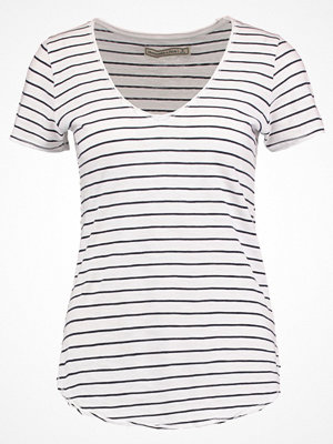 Abercrombie & Fitch SLUB VOOP Tshirt med tryck navy/white