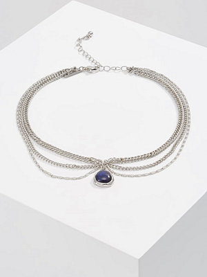 Topshop MOOD CHAIN Halsband blue