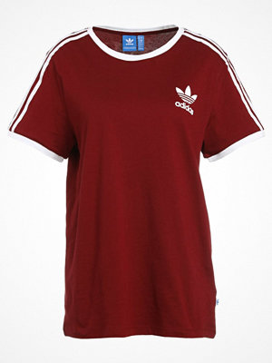 Adidas Originals 3STRIPES  Tshirt med tryck bordeaux