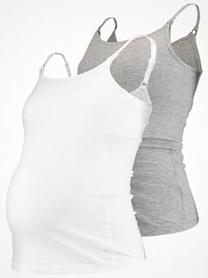 New Look Maternity 2 PACK Linne white/grey