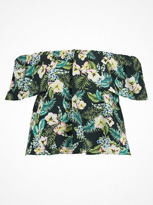 Topshop Petite HAWAIIAN MAGIE  Tshirt med tryck dark green