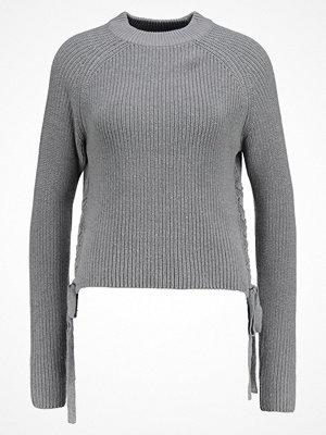 Even&Odd SIDE LACEUP HALF  Stickad tröja grey melange